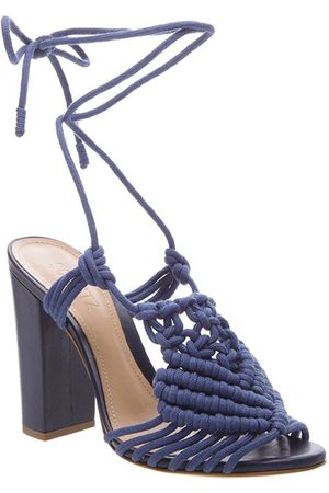 Schutz High Heel Macrame Sandals