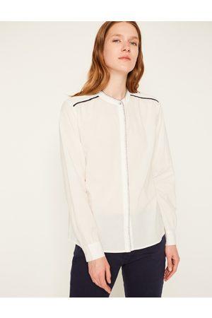 Yerse Women Shirts - Stitched Shirt Ecru/Navy