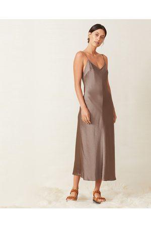 Bec & Bridge Taupe Piper Midi Slip Dress