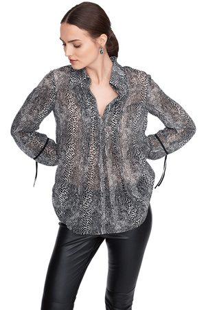 Riani Women Blouses - Sheer Animal Print Blouse