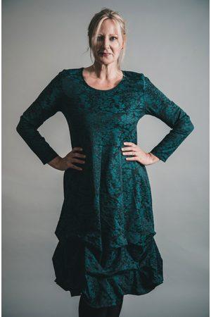 Out Of Xile Women Midi Dresses - JACQUARD PINCH HEM MIDI DRESS EMERALD