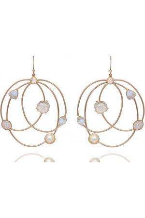 Atelier Mon Bianca Mist Gemstones Bouquet Hoops