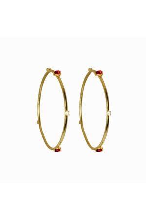 Dinari Jewels Lopez Red Hoops