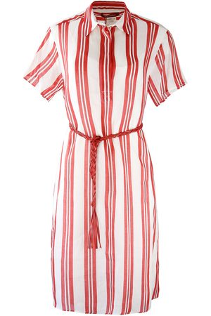 Max Mara Maxmara Studio Short Sleeve and White Shirt Dress