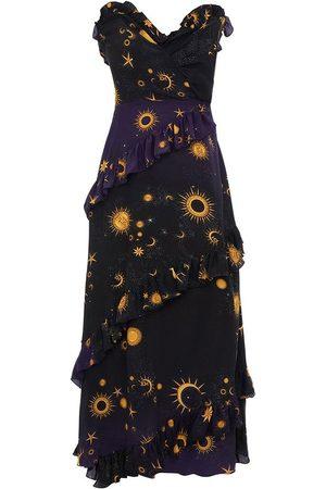 HAYLEY MENZIES Superstar Strapless Midi Frill Dress