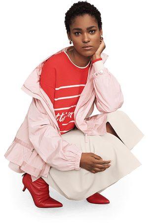 Riani Jacket with Box Pleats and Flounce