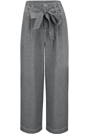 120% Lino 120% Lino Belted Pant in Elephant Soft Fade
