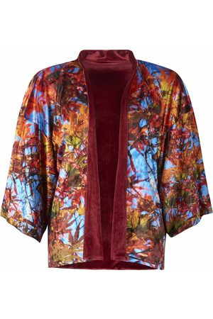 From My Mother's Garden Women Kimonos - REVERSIBLE VELVET KIMONO - BLUE SKY ACER