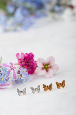 Amanda Coleman Mini Butterfly Stud Earrings in