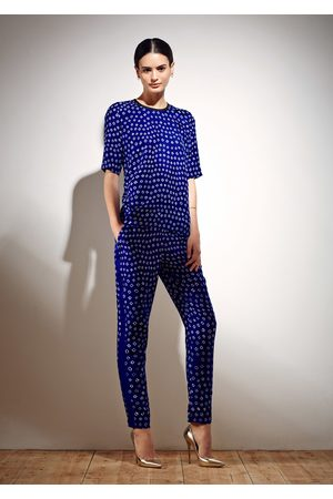 Uzma Bozai Women Jeans - Hilda Trousers - Electric Bandhani Cotton Viscose