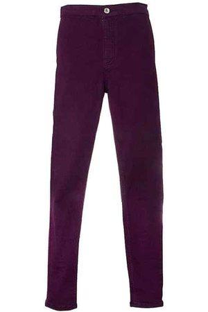 Patrizia Pepe Skinny High Waisted Jeans - Plum