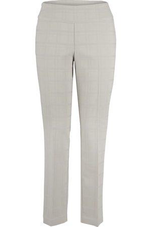 Up Pants Up! Pants 65781 Jacquard Square Trouser - Ecru
