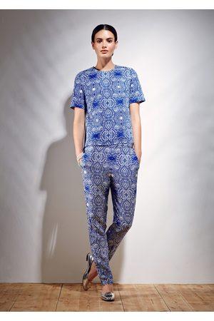 Uzma Bozai Women Jeans - Mehindi Trousers - Electric Cotton Viscose