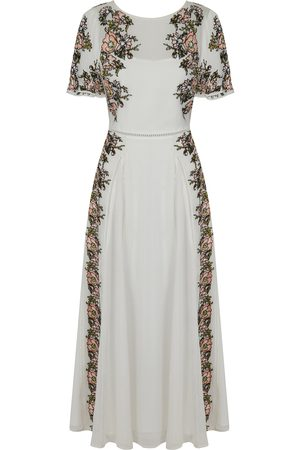 Frock and Frill Women Maxi Dresses - Joyce Embroidered Short Sleeve Maxi Dress