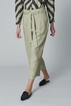 120% Lino 120% P1W29730253000 High Waist Trouser in Grey