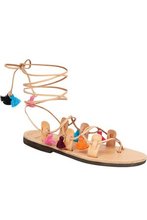Uzma Bozai Mati Sandals - Tan/Multi