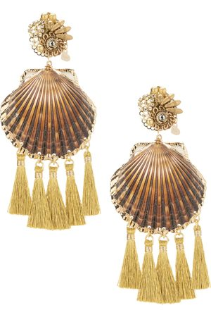 Mercedes Salazar Rose Coquille Shell Earrings