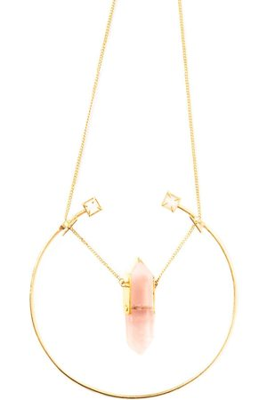 Rose Khbeis She & Crystal Necklace