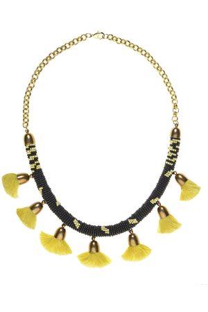 Uzma Bozai Pom Pom Necklace - Gold