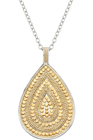 Anna Beck Beaded Teardrop Necklace and Silver