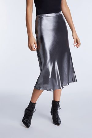 SET Women Midi Skirts - Metallic Midi Skirt