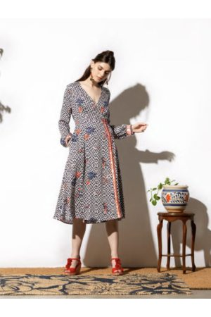 Emily Lovelock Phoebe Dress in Retro Print