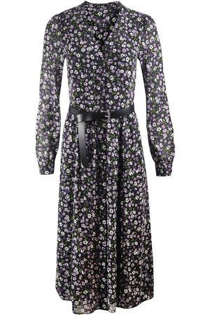 Michael Kors Long Sleeve Midi Shirt Dress