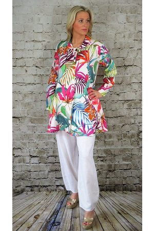 Out Of Xile LINEN SHIRT EXOTIC FLORAL PRINT