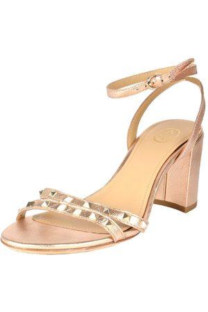 Ash Janis Rose Gold Block Heeled Sandals