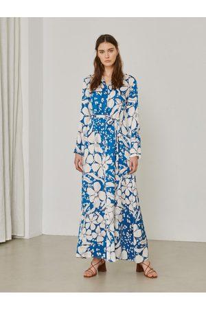 Sita Murt 101203 Printed Dress - White Flower