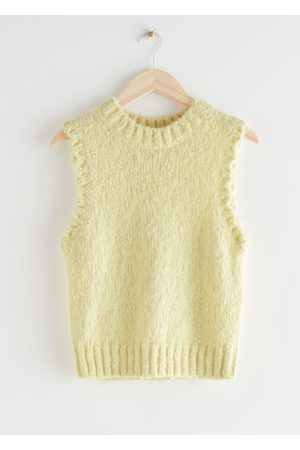 & OTHER STORIES Fuzzy Scallop Knit Vest