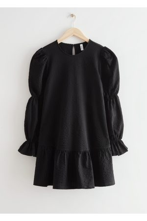& OTHER STORIES Textured Tiered Mini Dress