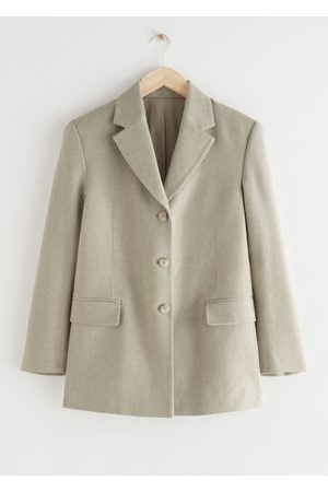 & OTHER STORIES Relaxed Long Silk Blazer