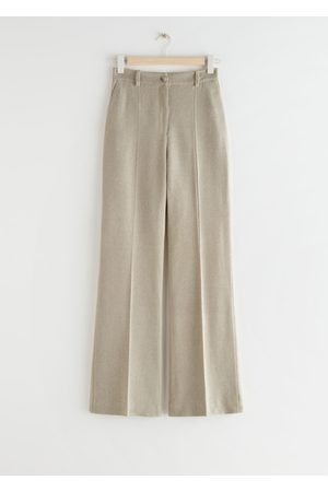 & OTHER STORIES Slim Silk Press Crease Trousers
