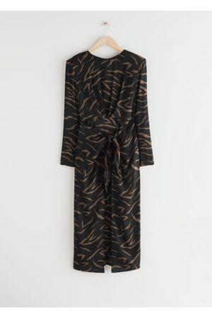 & OTHER STORIES Midi Slit Wrap Dress