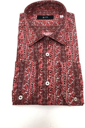 Mr Q Palma Shirt in Pomegranate