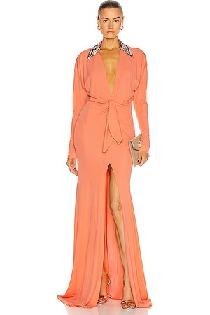 Dundas Long Sleeve Cinched Gown in