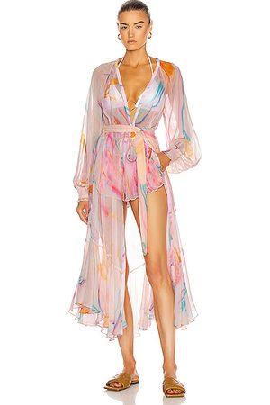 ROCOCO SAND Davina Robe Dress in Ombre & Tie Dye