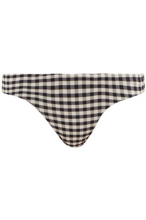 Haight Basic Gingham-check Jersey Bikini Briefs - Womens