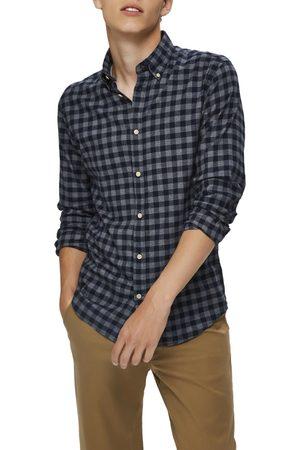 Selected Men's Slim Fit Plaid Flannel Button-Down Shirt