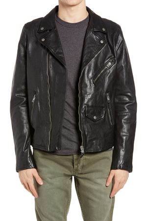 KSUBI Men's Capitol Leather Moto Jacket