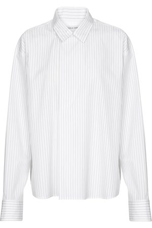 Bottega Veneta Pinstripe cotton poplin shirt