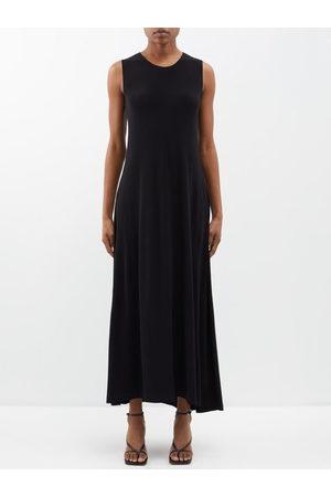 Norma Kamali Women Casual Dresses - Round-neck Jersey Maxi Swing Dress - Womens