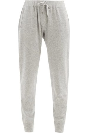 Brunello Cucinelli Women Sweatpants - Ribbed-cuff Cashmere Track Pants - Womens - Light Grey