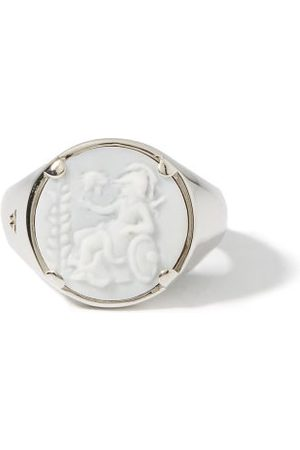 TOM WOOD Men Rings - Athena Cameo Rhodium-plated Sterling- Ring - Mens