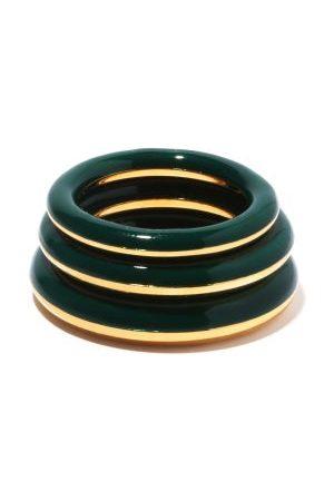 CHARLOTTE CHESNAIS Women Rings - Set Of Three Enamel & 18kt Gold-vermeil Rings - Womens - Multi