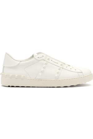 VALENTINO GARAVANI Untitled Rockstud-panel Leather Trainers - Mens