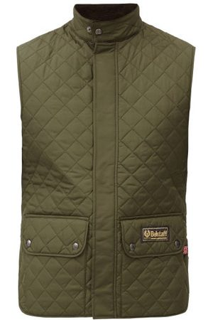 Belstaff Men Gilets - Diamond-quilted Recycled-shell Gilet - Mens - Khaki