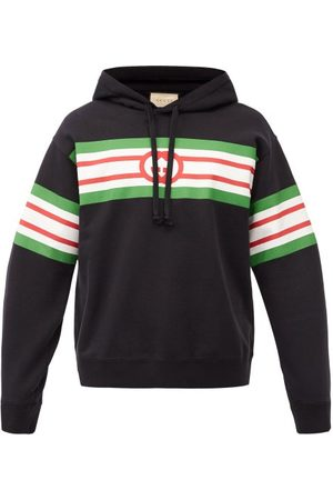 Gucci GG Logo-print Cotton-jersey Hooded Sweatshirt - Mens