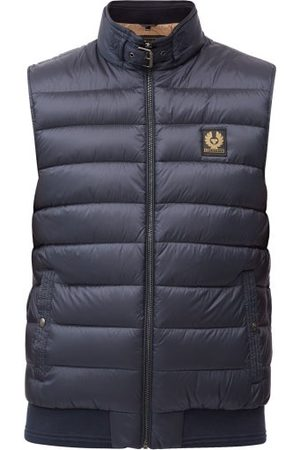 Belstaff Circuit Logo-patch Quilted Down Gilet - Mens - Navy
